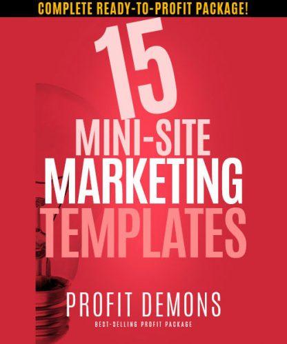 15 Mini Site Marketing Templates